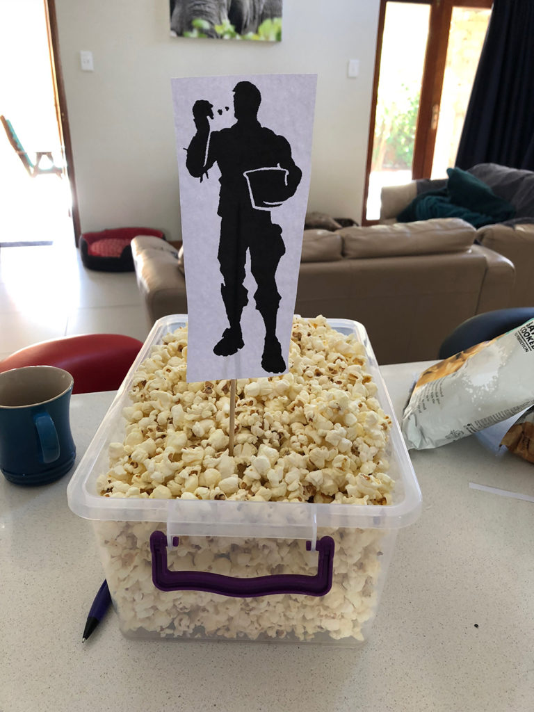 Fortnite Party Idea Popcorn