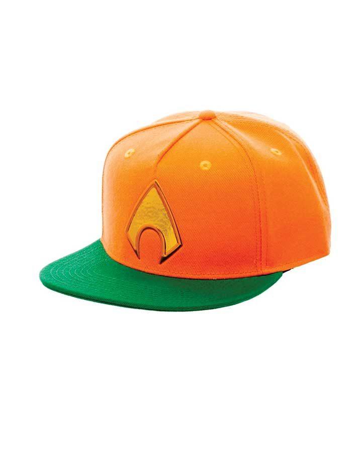 Aquaman logo snapback cap