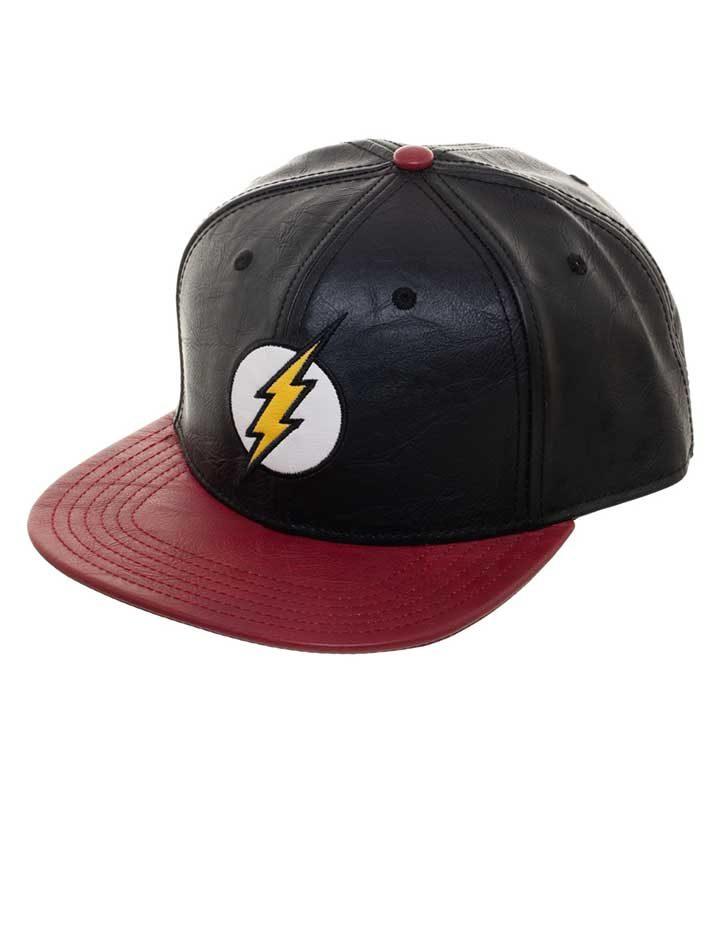The Flash logo snapback cap side view