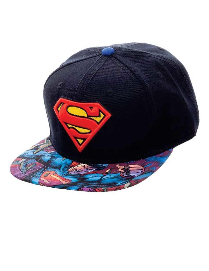 Superman logo snapback cap