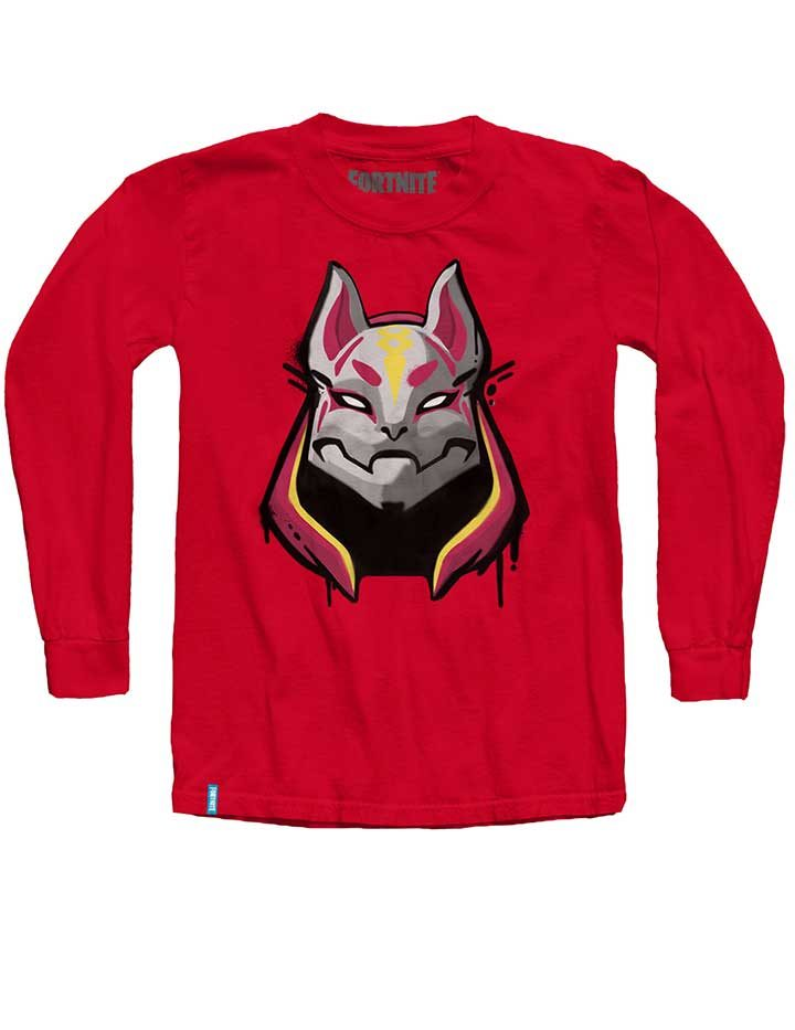 Fortnite Drift Long Sleeve Shirt Red